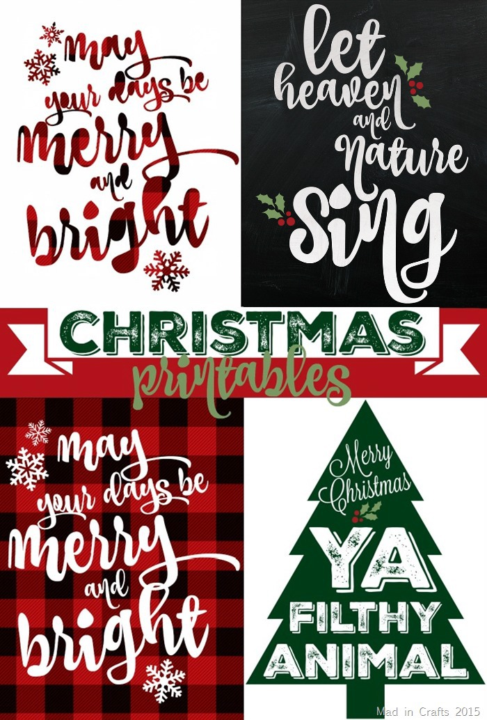 SPARKLY & PLAID CHRISTMAS PRINTABLES