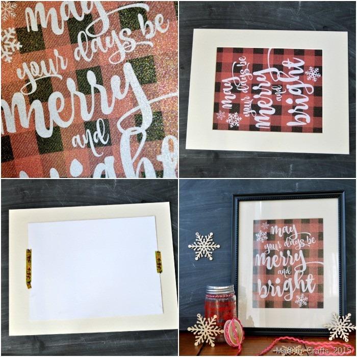 Framing a Glitter Print