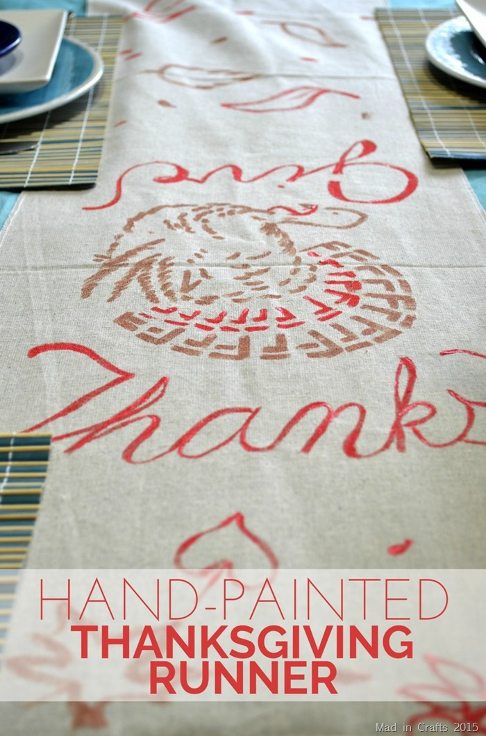Hand-Painted Thanksgiving Runner