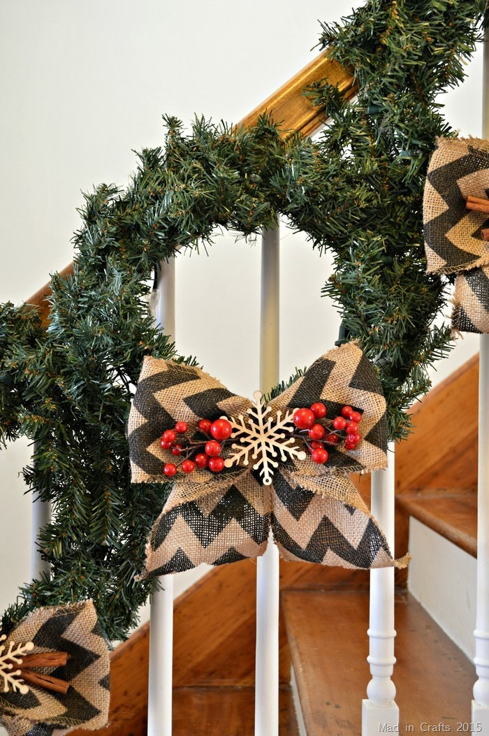 Wreaths on Banister
