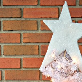 SIMPLE SPARKLY STAR TREE TOPPER