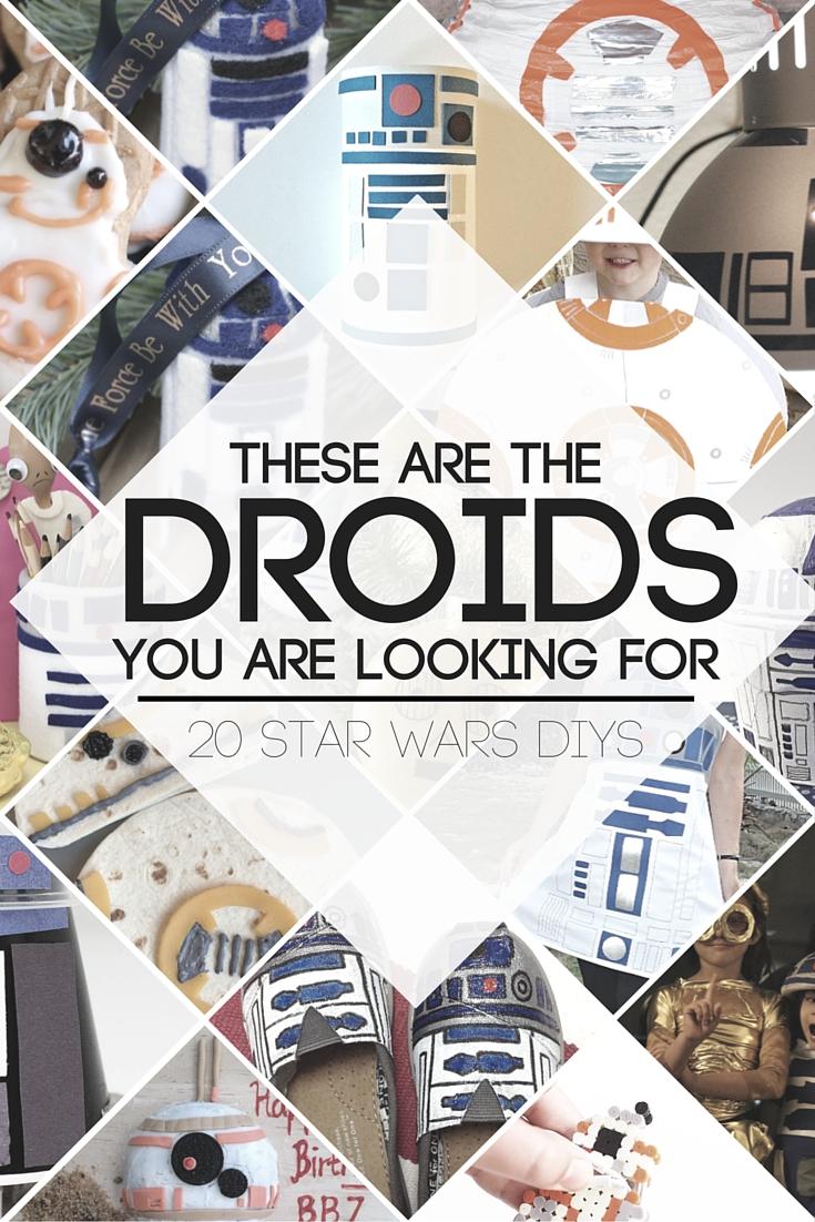20 Star Wars Droid DIYs - R2D2, C3PO, & BB8