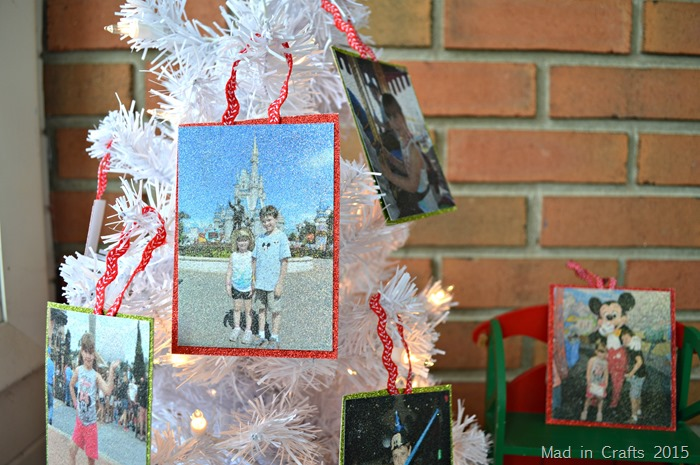 Glitter Photo Ornaments