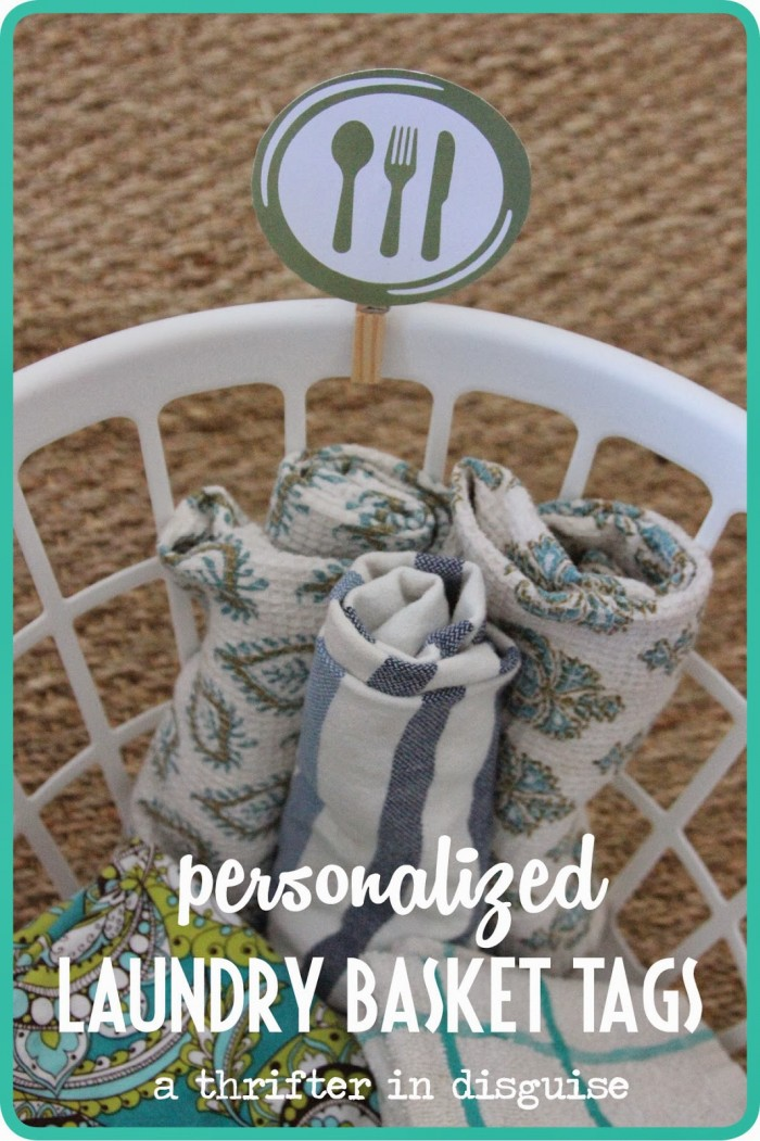 Laundry Basket Tags for Kitchen