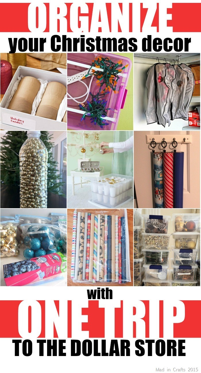 Organize Your Christmas Decor with One Trip to the Dollar Store