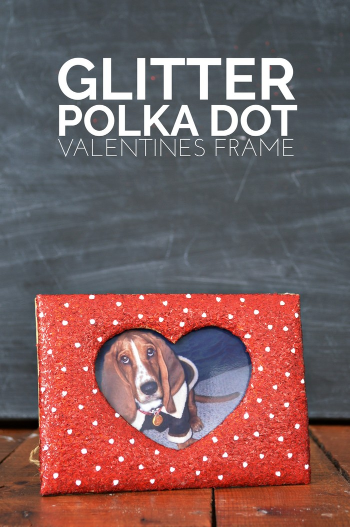 Glitter Polka Dot Valentine Frame