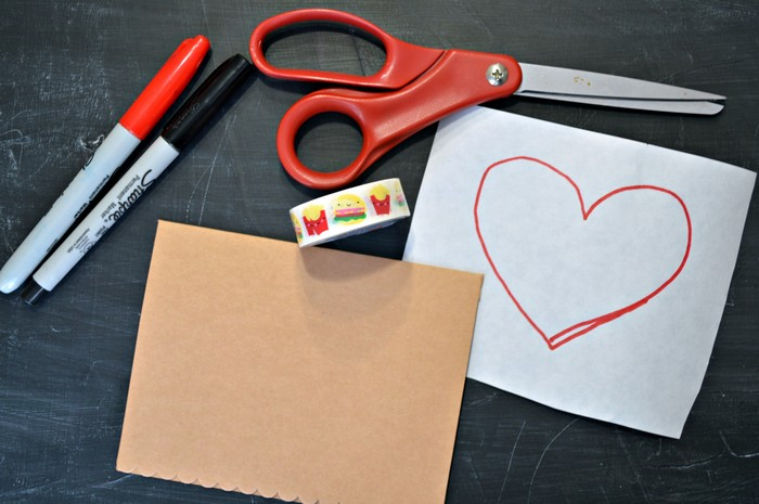 valentine card supplies