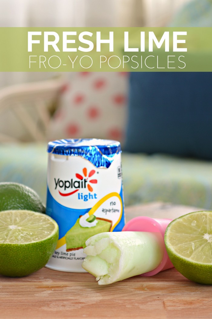 Fresh Lime FroYo Popsicles