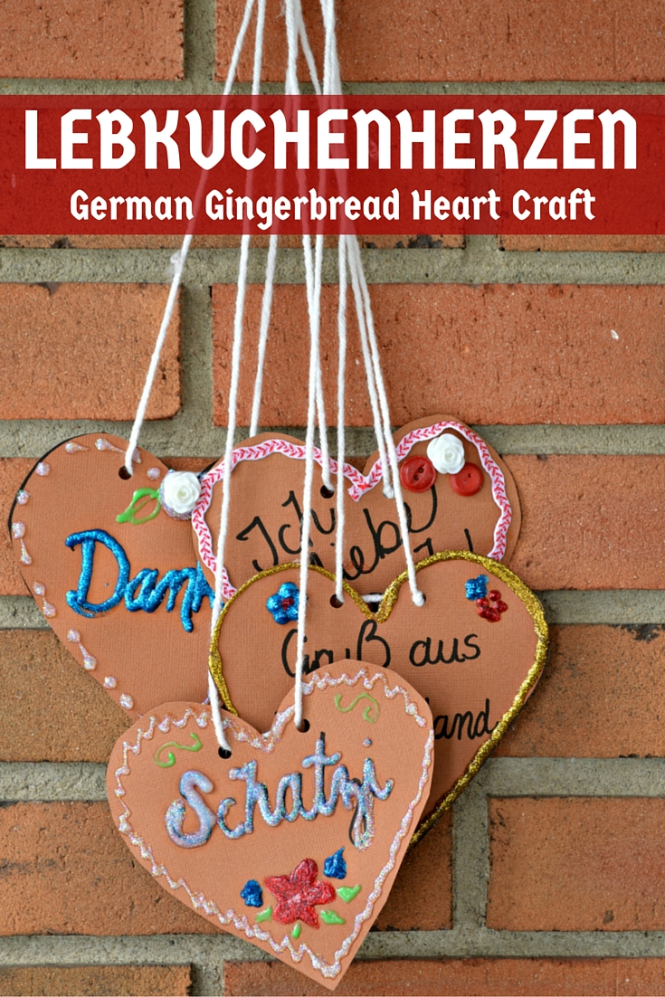 Lebkuchenherzen- German Gingerbread Heart Craft