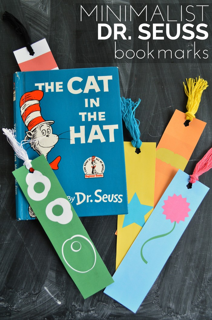 picture about Dr Seuss Printable Bookmarks referred to as MINIMALIST DR. SEUSS BOOKMARK PRINTABLES Insane in just Crafts