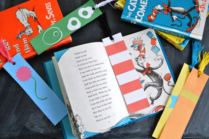 Printable Seuss Bookmarks