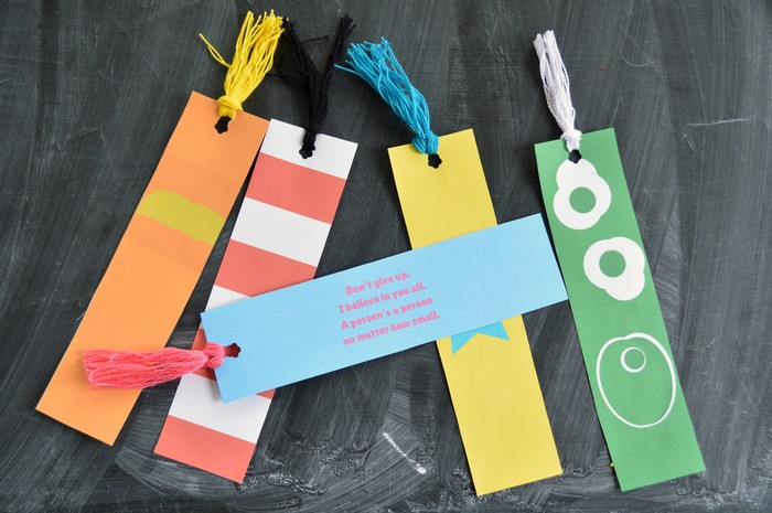 Seuss bookmarks with quotes
