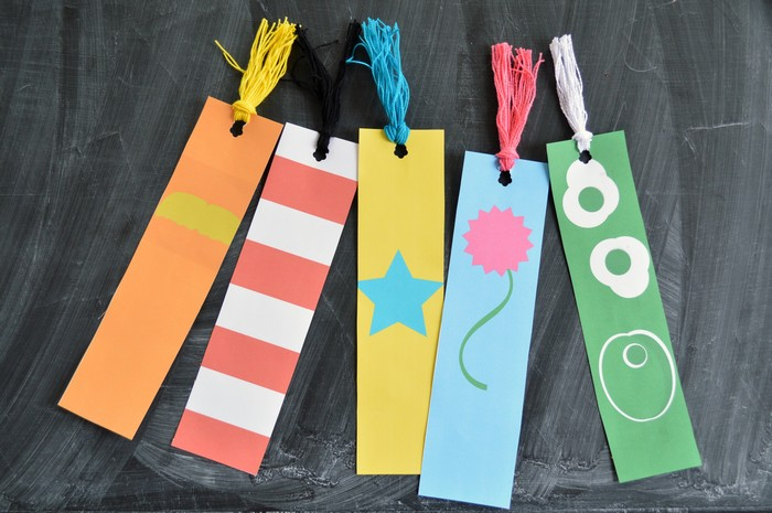 minimalist Seuss bookmarks