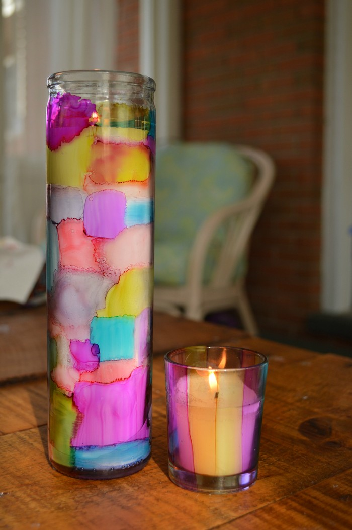 Stained Glass Candle Holders Easter Mad In Crafts