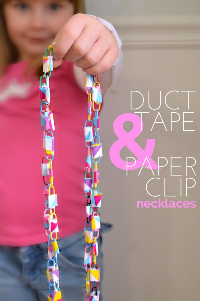 DUCT TAPE AND PAPER CLIP NECKLACES
