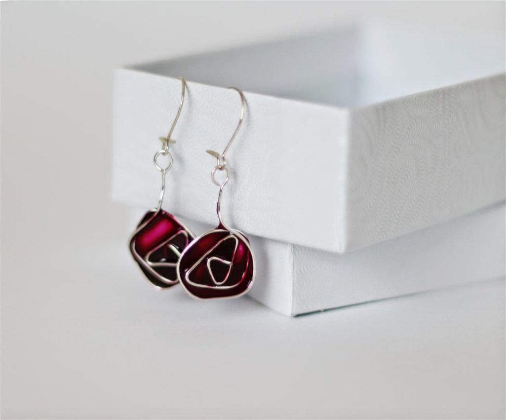 stained glass earrings