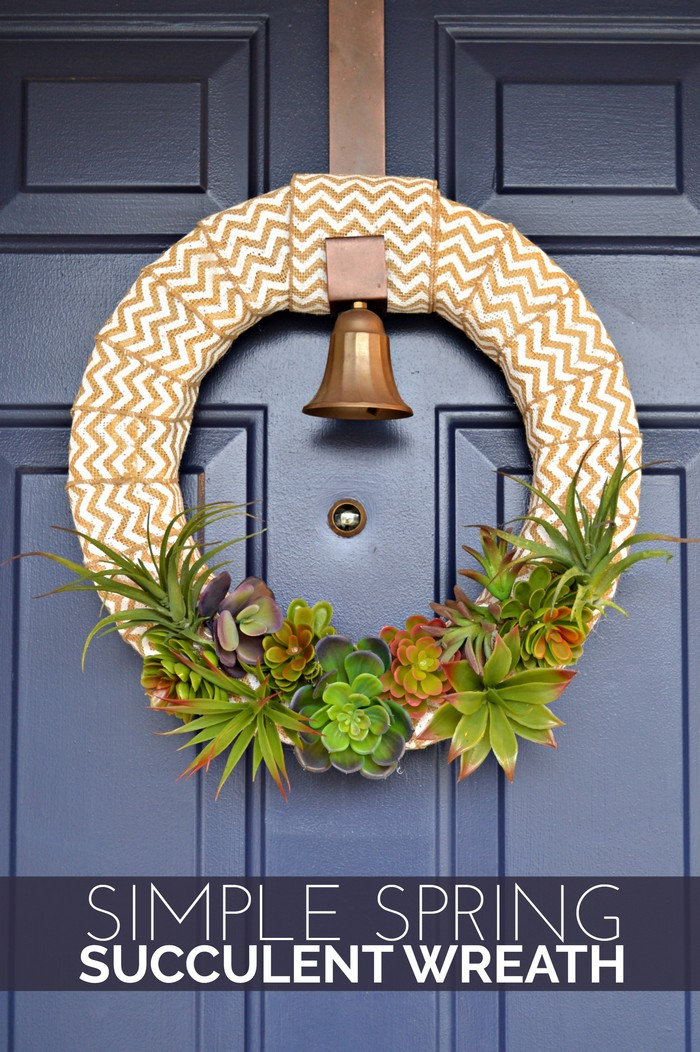 Simple Spring Succulent Wreath