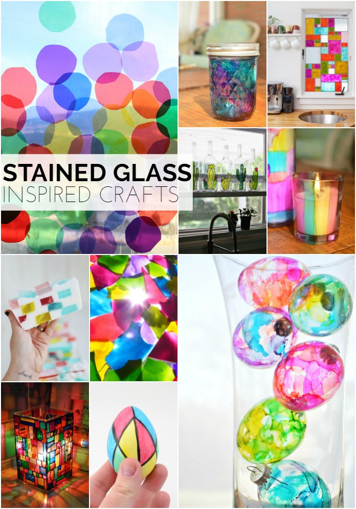 Stained Glass Inspired Craft Tutorials