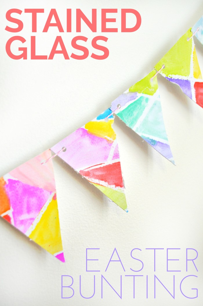 Stained Glass Inspired Easter Bunting