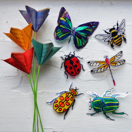 stained glass bugs