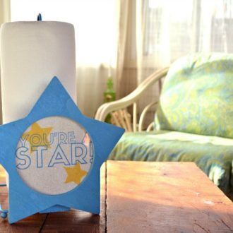 PAPER TOWEL HOLDER TEACHER GIFT