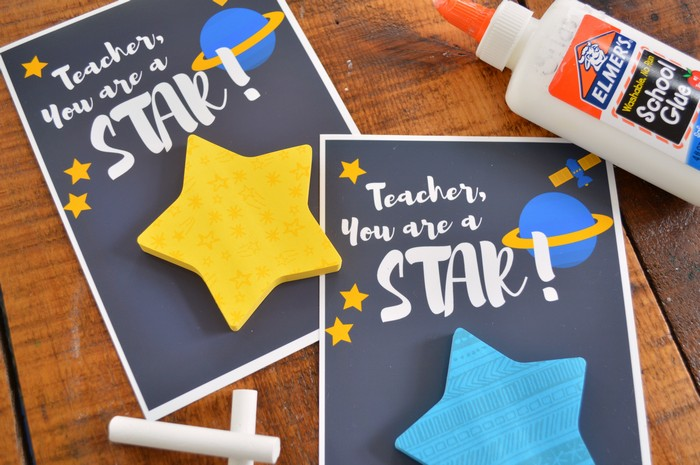 STAR POST-IT TEACHER GIFTS