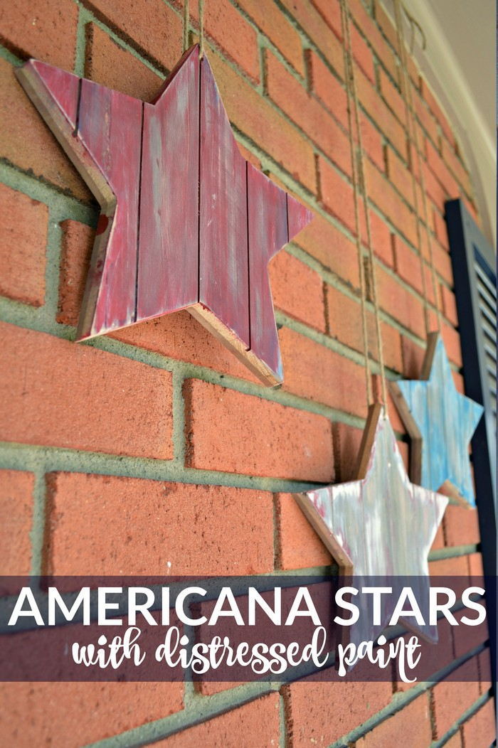 Americana Stars with Distressed Paint