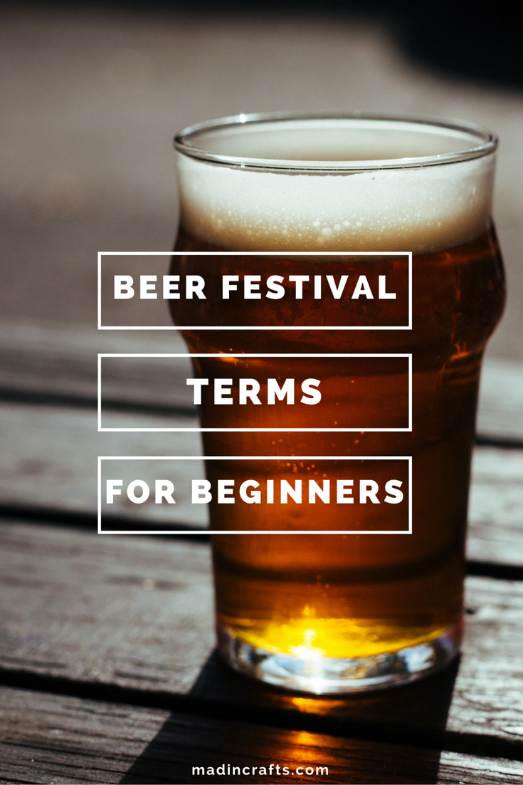 Beer Festival Terms for Beginners
