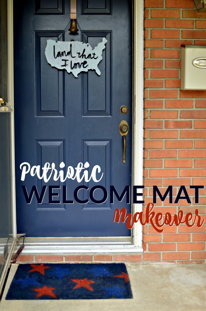 Patriotic Welcome Mat Makeover