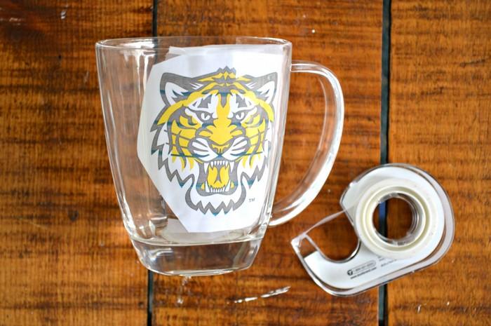 printout inside mug