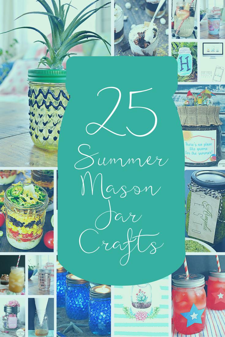 25 Summer Mason Jar Crafts