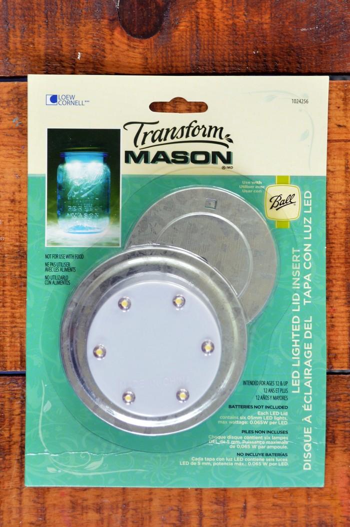 LED Lighted Mason Jar Lid Insert