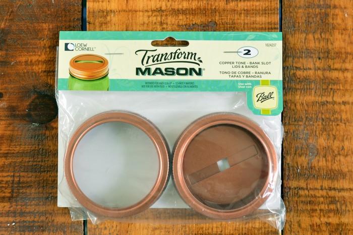 Mason Jar Bank Slot Lid