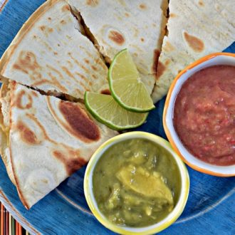 SIMPLE STUFFED QUESADILLAS WITH TANGY SALSA