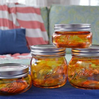 PUMPKIN LUMINARY MASON JARS