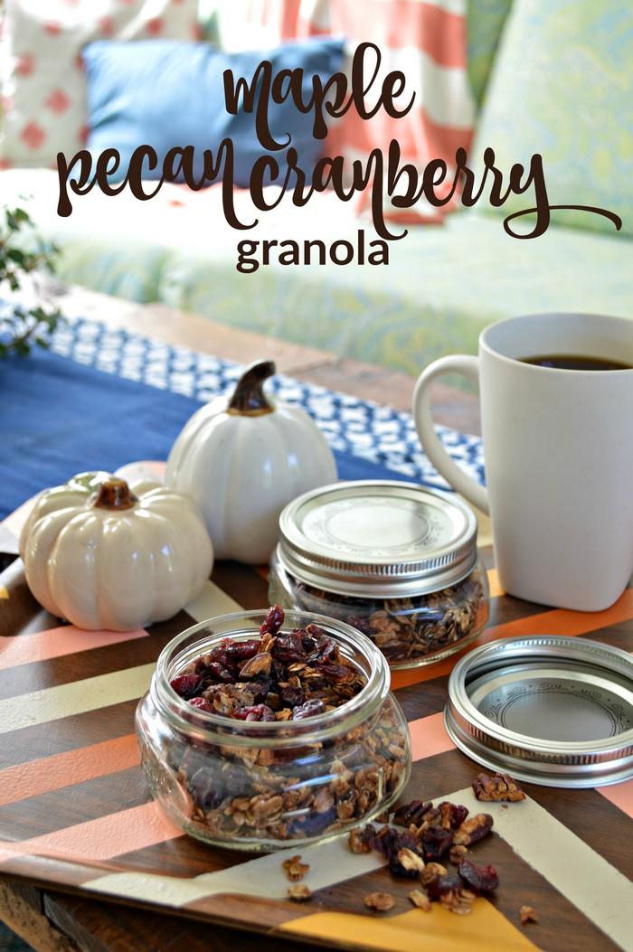 Maple Pecan Cranberry Granola Recipe