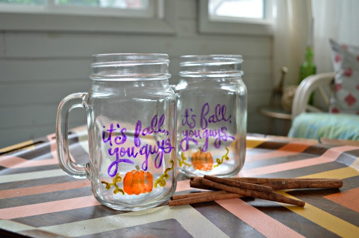 Mason Jar Mugs Fall