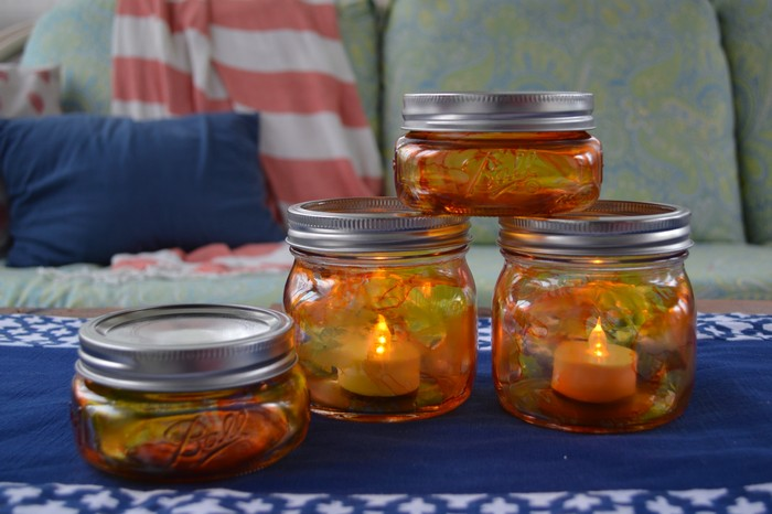 Pumpkin Mason Jar Luminaries