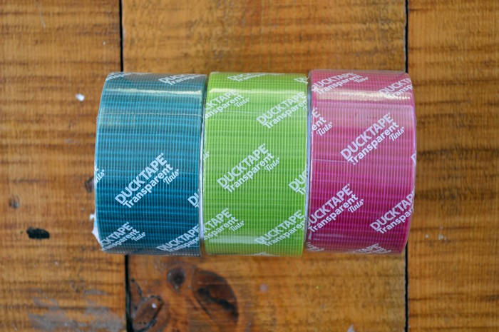 Transparent Duck Tape Colors