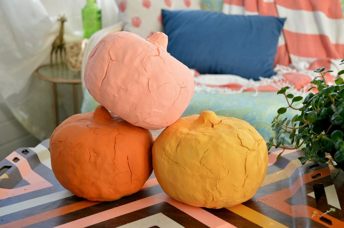 Cracked Clay Pumpkins