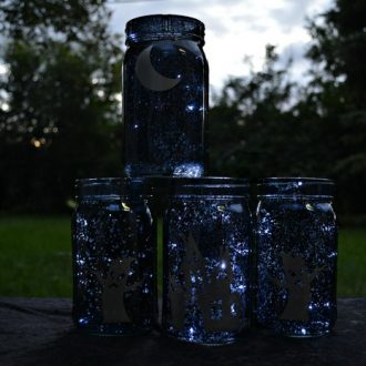 HALLOWEEN MASON JAR LUMINARY VILLAGE