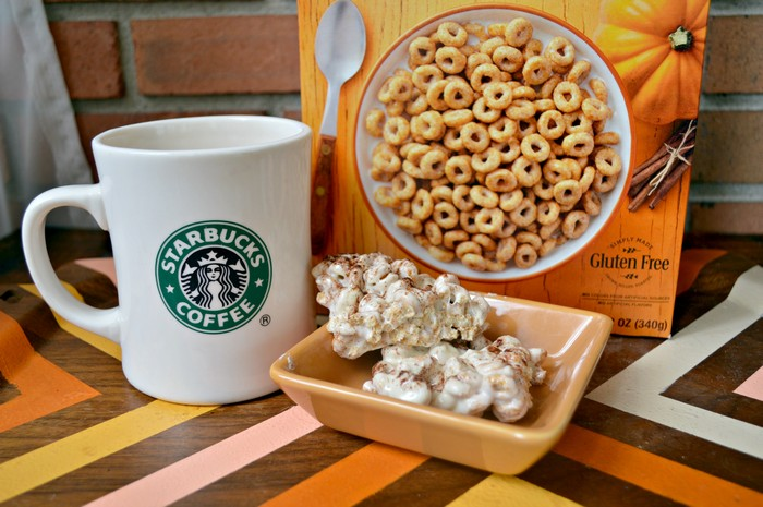 PUMPKIN SPICE LATTE CHEERIOS TREATS