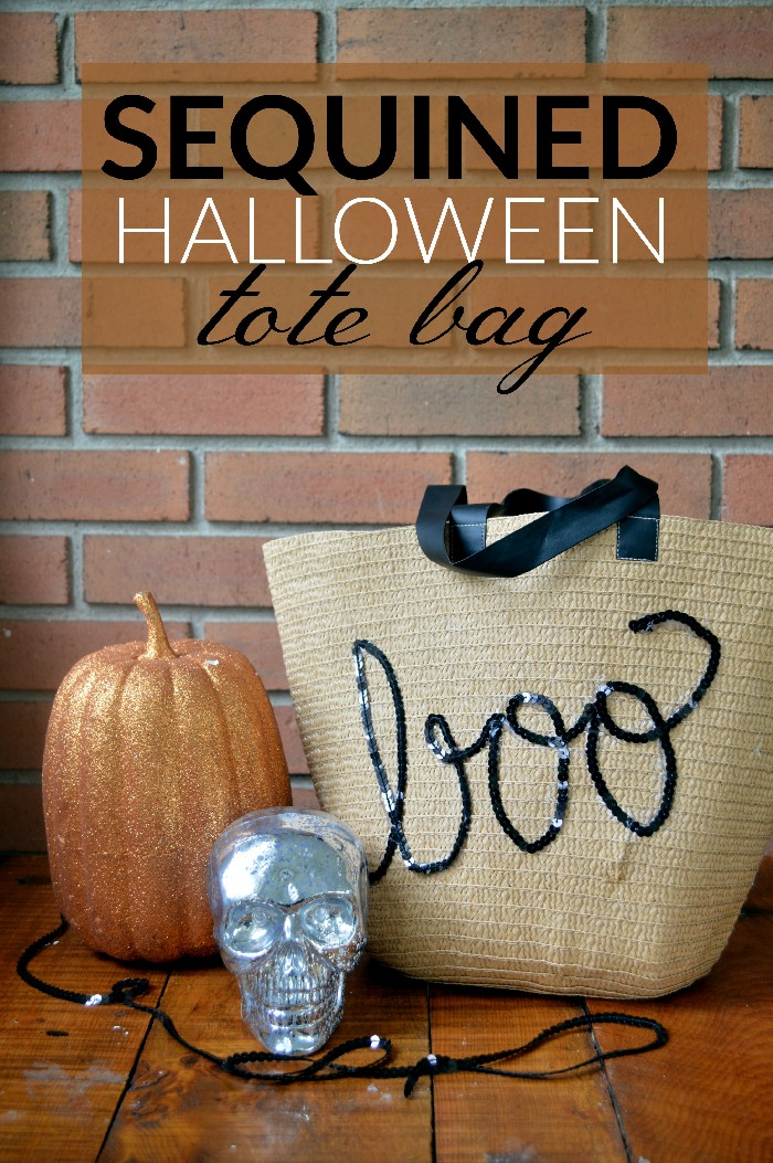 DIY SEQUINED HALLOWEEN TOTE