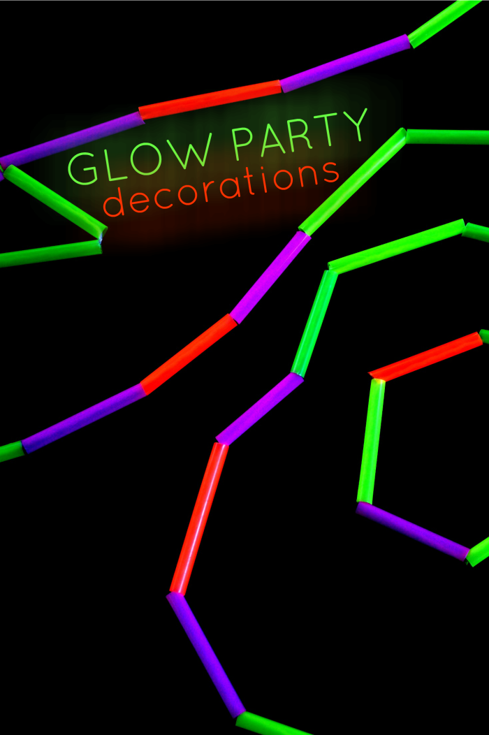 GLOW PARTY DECORATIONS AND FAVORS