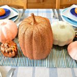 AN UNEXPECTED BLUE AND ORANGE FALL TABLE