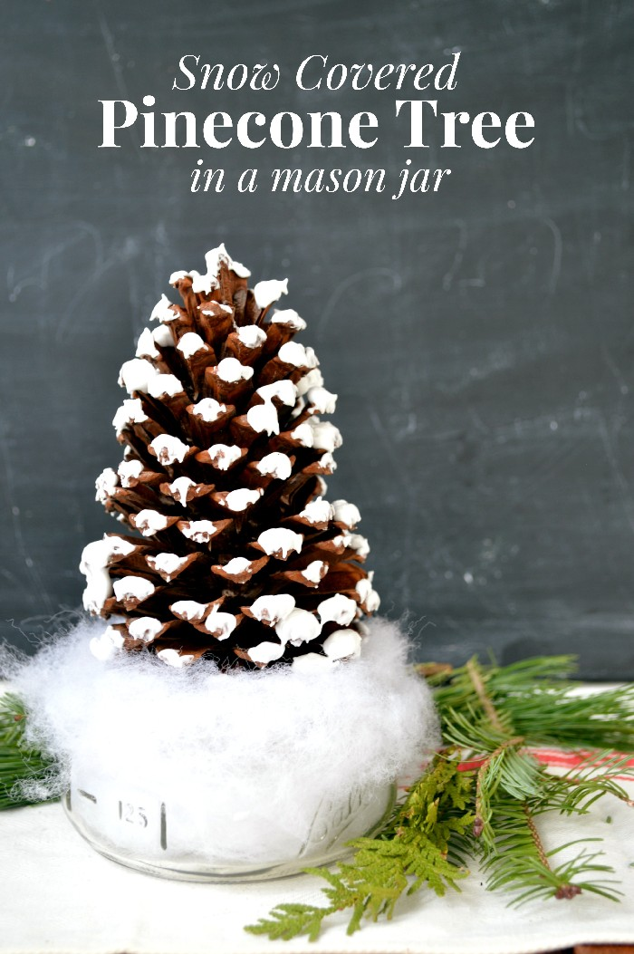 Pine Cone Christmas Tree Craft.Mason Jar Pinecone Tree Christmas Decorations Mad In Crafts