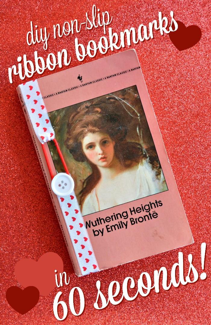 DIY Non-Slip Ribbon Bookmarks in 60 Seconds