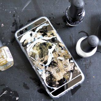 NAIL POLISH MARBLED PHONE CASE
