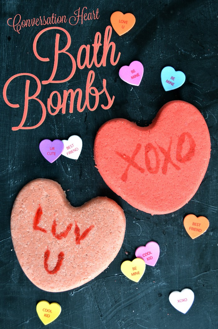 How to Make Conversation Heart Bath Bombs