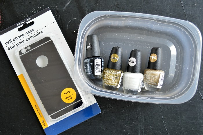 Nail Polish Marble phone case supplies